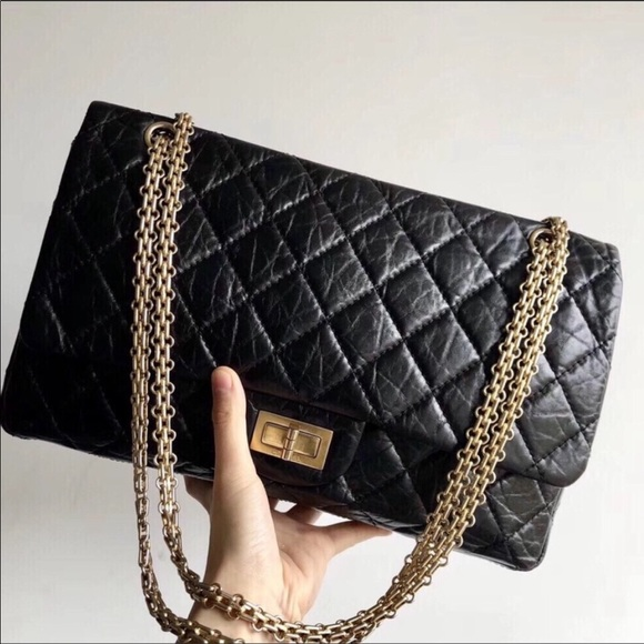 3376098dc92f45 CHANEL Bags | Sold Aged Calfskin 255 Reissue 227 Flap | Poshmark